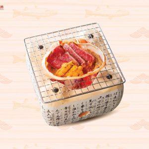 Bò Wagyu nhum biển nướng gạch cua