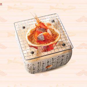 Hải sản nướng gach cua