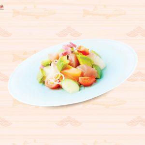 Salad sashimi và bơ