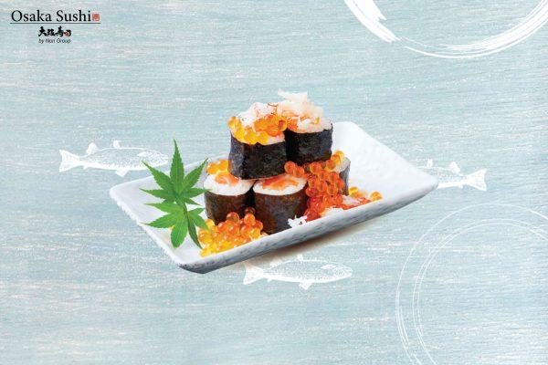 Sushi cá hồi và trứng