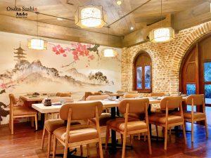 Không gian Nhật Bản nhà hàng Osaka Sushi