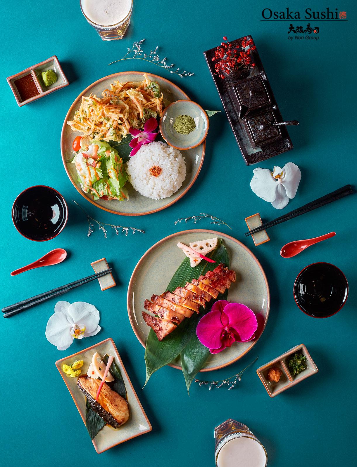 Bàn tiệc nhà hàng Osaka Sushi