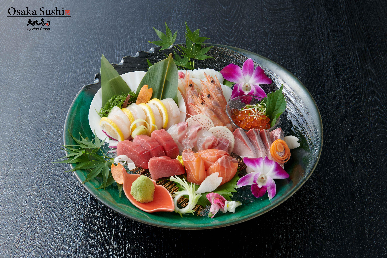 Osaka deluxe assorted sashimi
