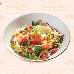 Salad cá hồi và trứng