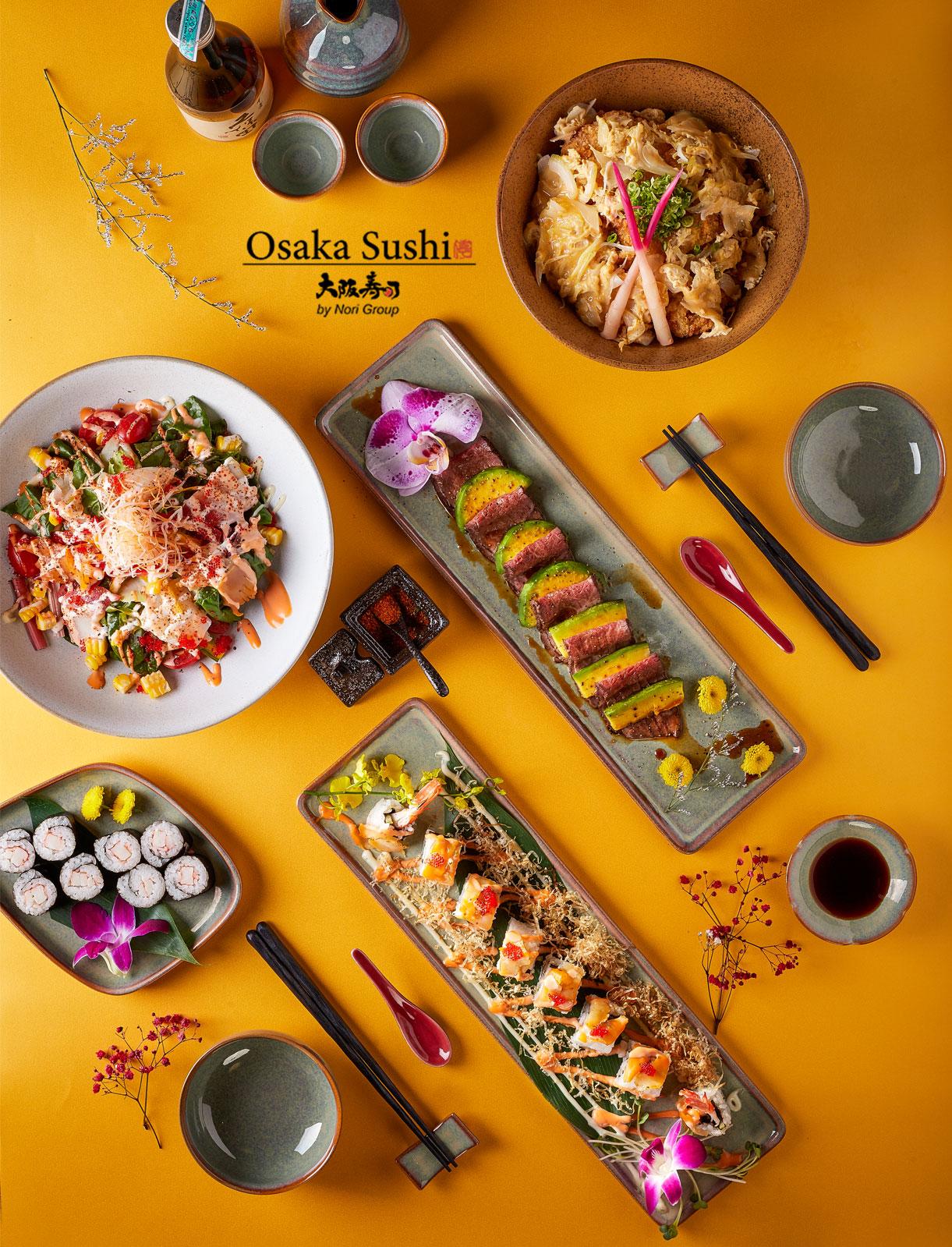 Thực đơn nhà hàng Osaka Sushi